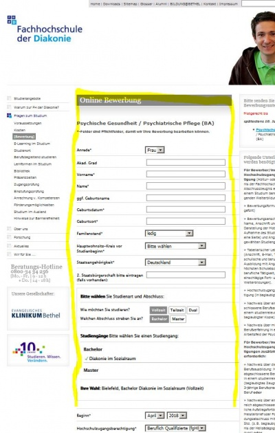 Online Bewerbung Trainexwiki